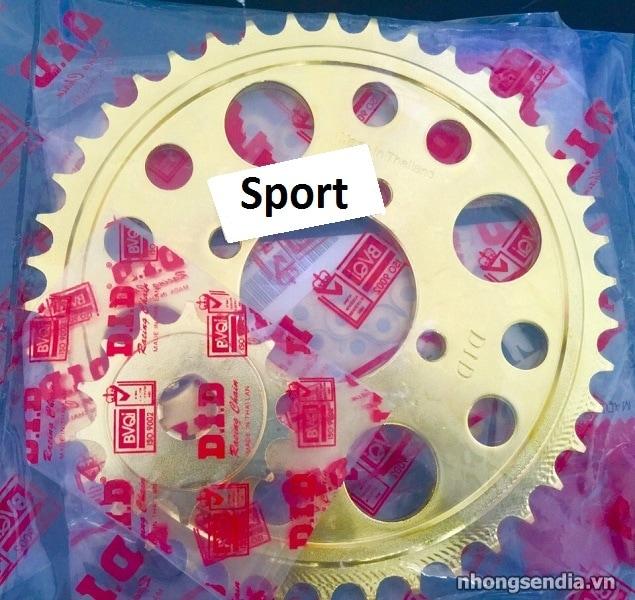 Nhông sên dĩa did vàng cho suzuki sport - 1