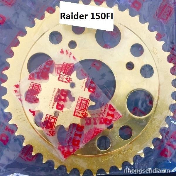 Nhông sên dĩa did vàng cho raider fi - 1