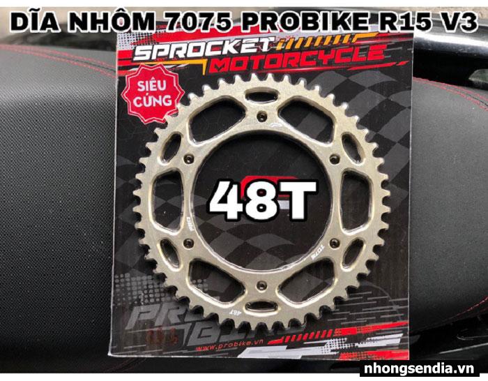 Dĩa nhôm probike 7075 a3 cho r15 48t - 1