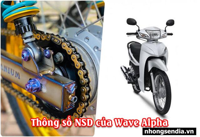 Thông số nhông sên dĩa wave alpha bao nhiêu thay loại nào tốt - 1