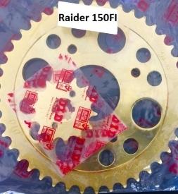 Nhông sên dĩa DID vàng cho Raider FI