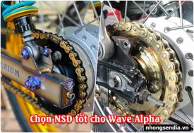 Chọn mua nhông sên dĩa Wave Alpha nên thay loại nào tốt?