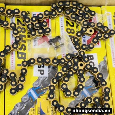 Sên RK vàng đen 428HSBT - 124 mắc